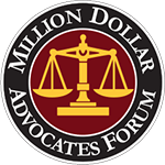 Logo Recognizing The Mallard Law Firm's affiliation with the Million Dollar Advocates Forum